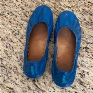 Size 7 Well Loved/Worn Cobalt Tieks